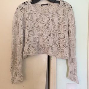 Brandy Melville long sleeve cropped sweater shirt